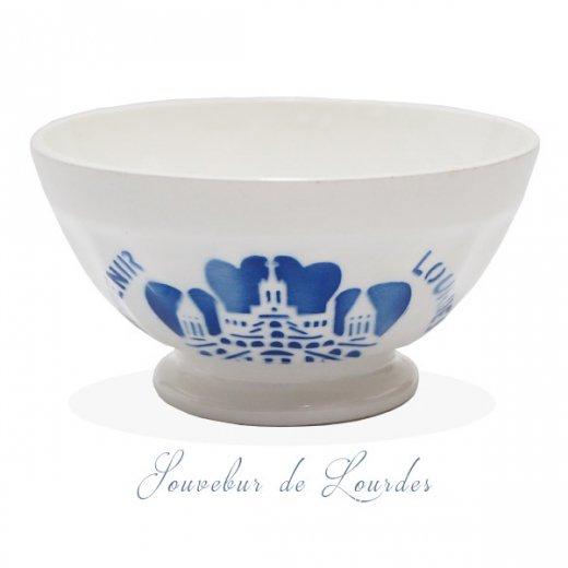 フランス アンティーク カフェオレボウル ルルドの泉 souvenir de lourdes【直径10.6cm】