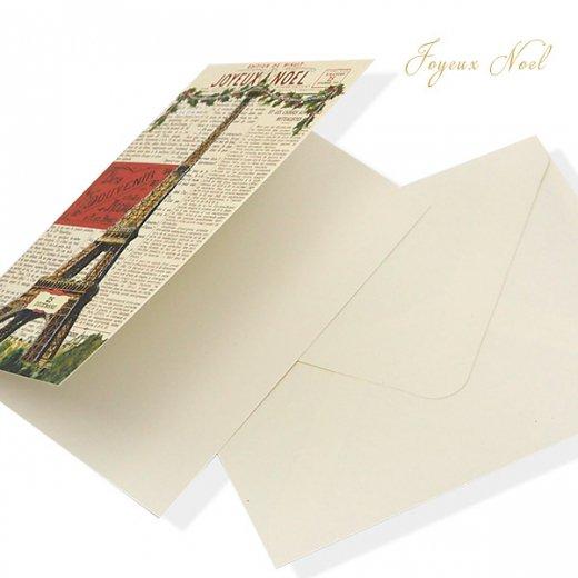 Cavallini & Co. カバリーニ クリスマス カード(封筒付き)【JOYEUX NOEL】【画像5】