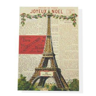 ポストカード/フレンチ Cavallini & Co. カバリーニ クリスマス カード(封筒付き)【JOYEUX NOEL】