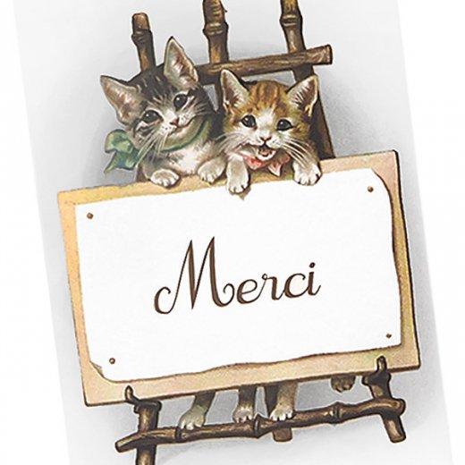 フランス ポストカード 猫 キャット (Merci)【画像2】