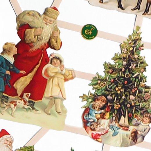 ドイツ クリスマス クロモス【M】サンタさんの贈り物【画像2】