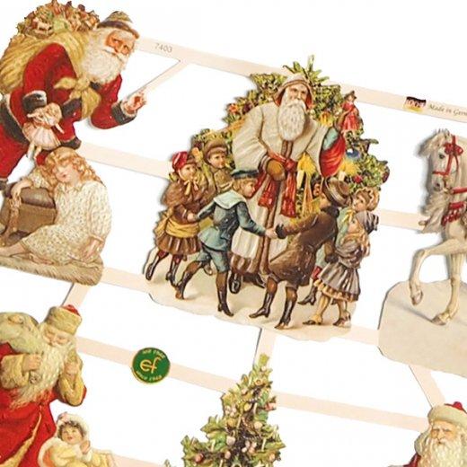 ドイツ クリスマス クロモス【M】サンタさんの贈り物【画像3】