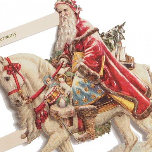 ドイツ クリスマス クロモス【M】サンタさんの贈り物【画像4】