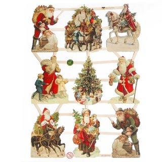 ドイツ クリスマス クロモス【M】サンタさんの贈り物