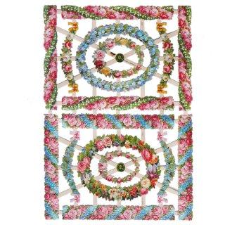 ドイツ クロモス【M】バラ 忘れな草 など 花のフレーム