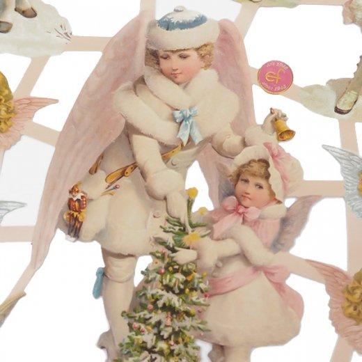 ドイツ クリスマス クロモス【M】クリスマスと天使【画像2】