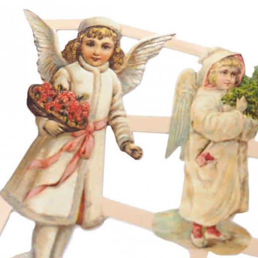 ドイツ クリスマス クロモス【M】クリスマスと天使【画像3】