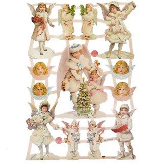 ドイツ クリスマス クロモス【M】クリスマスと天使
