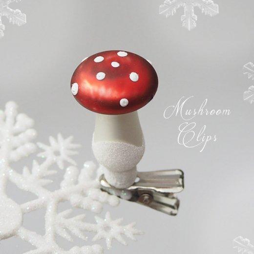 イギリス  キノコのクリップ付き クリスマス オーナメント【6ヶセット】【画像2】