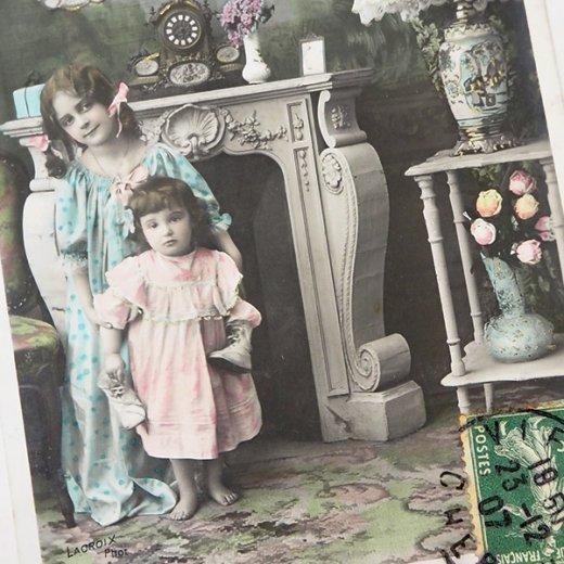 フランス 1907年代 アンティーク クリスマス ポストカード【クリスマスの夜】【画像2】