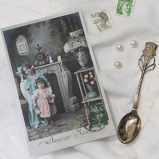 フランス 1907年代 アンティーク クリスマス ポストカード【クリスマスの夜】【画像5】