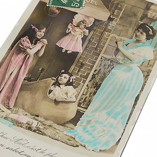 フランス 1900年初頭 アンティーク クリスマス ポストカード【クリスマスにお祈りを】【画像2】