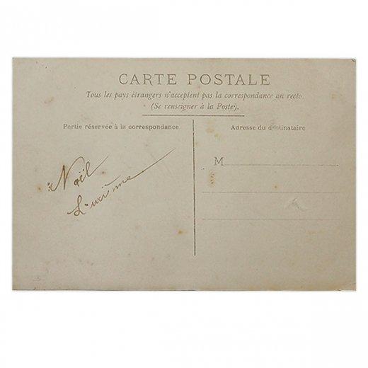 フランス 1900年初頭 アンティーク クリスマス ポストカード【クリスマスにお祈りを】【画像3】