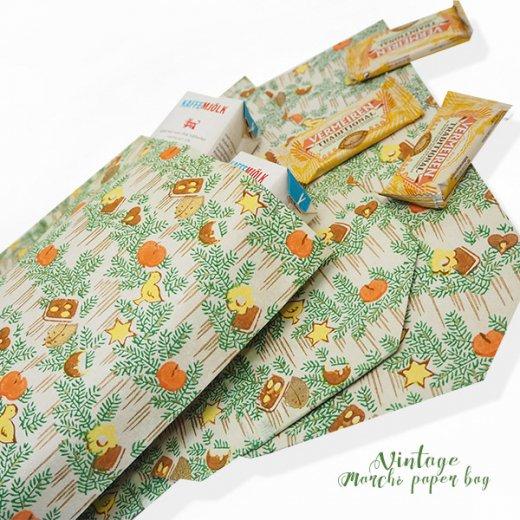 マルシェ袋  60年代 クリスマス ヴィンテージ【単品販売】ドイツ 海外市場の紙袋 20×29cm【画像2】