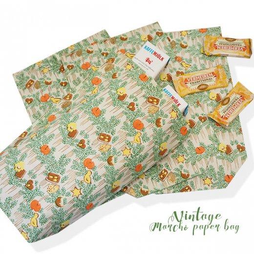 マルシェ袋  60年代 クリスマス ヴィンテージ【単品販売】ドイツ 海外市場の紙袋 20×29cm【画像3】