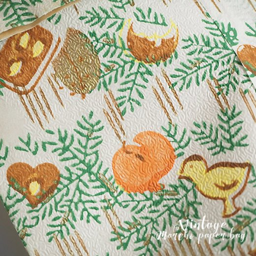 マルシェ袋  60年代 クリスマス ヴィンテージ【単品販売】ドイツ 海外市場の紙袋 20×29cm