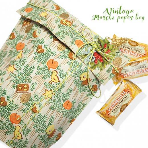 マルシェ袋  60年代 クリスマス ヴィンテージ【単品販売】ドイツ 海外市場の紙袋 20×29cm【画像6】