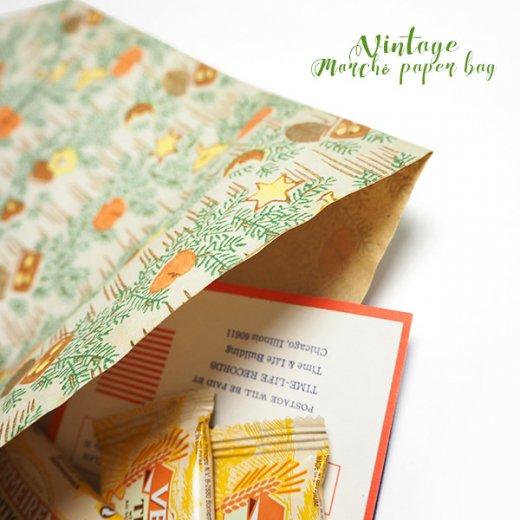マルシェ袋  60年代 クリスマス ヴィンテージ【単品販売】ドイツ 海外市場の紙袋 20×29cm【画像7】