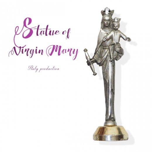 イタリア製 アンティーク キリストを抱く聖母マリアの像 オブジェ(ピューター)