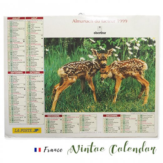 フランス 1999年 Almanach du facteur(LA POSTE アンティーク カレンダー)