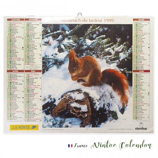 フランス 1999年 Almanach du facteur(LA POSTE アンティーク カレンダー)【画像2】