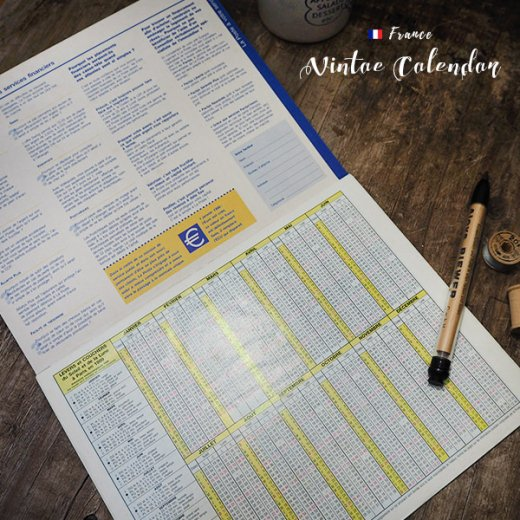 フランス 1999年 Almanach du facteur(LA POSTE アンティーク カレンダー)【画像3】