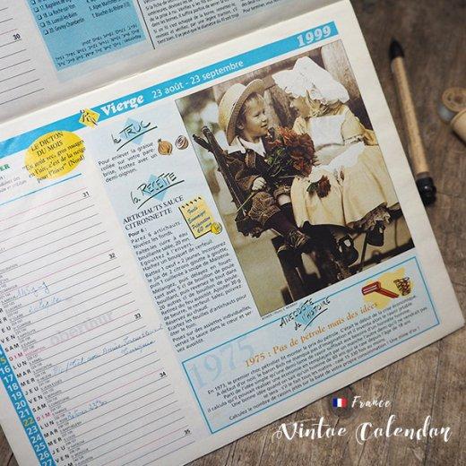 フランス 1999年 Almanach du facteur(LA POSTE アンティーク カレンダー)【画像4】