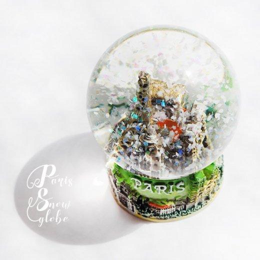 直輸入!スノードーム スノーグローブ フランス エッフェル塔  お土産 スーベニール 【グリーン 6cm】【画像2】