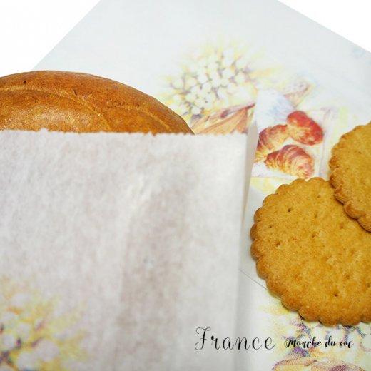 マルシェ袋 フランス 海外市場の紙袋(Sサイズ/クロワッサンとマンドリン・ギター)5枚セット【画像3】