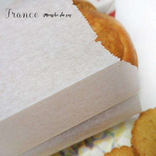 マルシェ袋 フランス 海外市場の紙袋(Mサイズ/クロワッサンとマンドリン・ギター)5枚セット【画像6】
