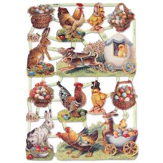 うさぎ ウサギ ラビット 雑貨 ドイツ クロモス【M】(イースターラビットF 【ラメ有り】)