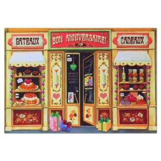 フランス ポストカード パリのお店シリーズ(BON ANNIVERSAIRE)