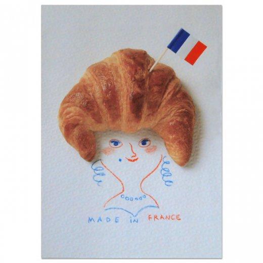 フランス ポストカード(クロワッサンマダム)