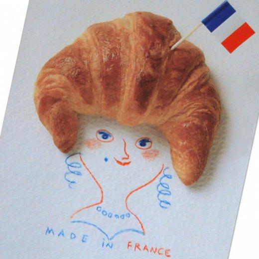 フランス ポストカード(クロワッサンマダム)【画像2】
