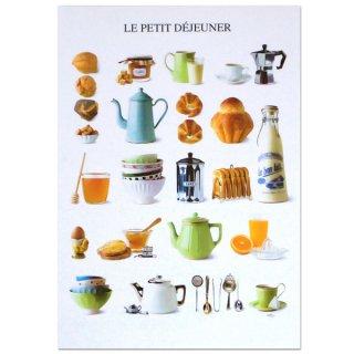 フランス ポストカード(LE PETIT DÉJEUNER〜朝食)