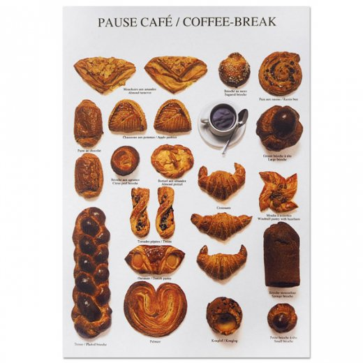 フランス ポストカード(PAUSE CAFÉ〜コーヒーブレイク)