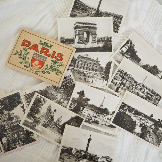 フランス アンティーク スーベニア フォトカードセット CAP(パリの街並み Souvenir Photo) 【画像3】