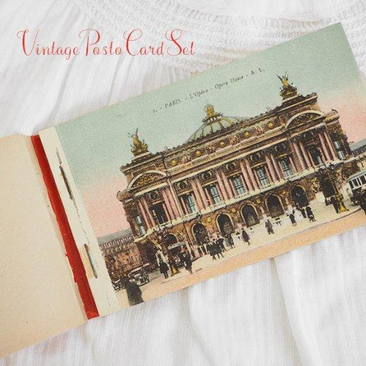 フランス アンティーク スーベニア ポストカードセット(パリの建物・風景 Souvenir) 【画像3】