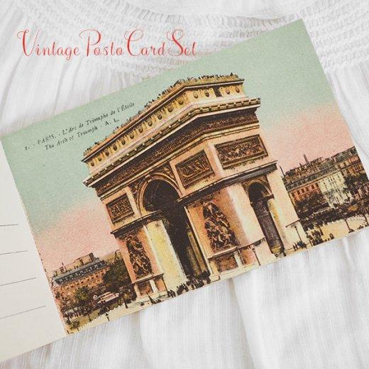 フランス アンティーク スーベニア ポストカードセット(パリの建物・風景 Souvenir) 【画像4】