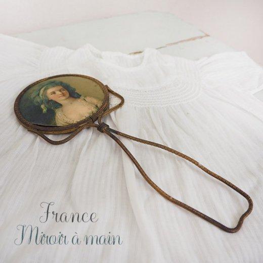 【送料無料】フランス アンティーク ビクトリアン 手鏡(貴婦人の肖像) 【画像3】