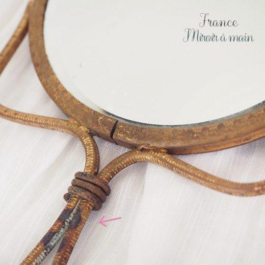 【送料無料】フランス アンティーク ビクトリアン 手鏡(貴婦人の肖像) 【画像5】