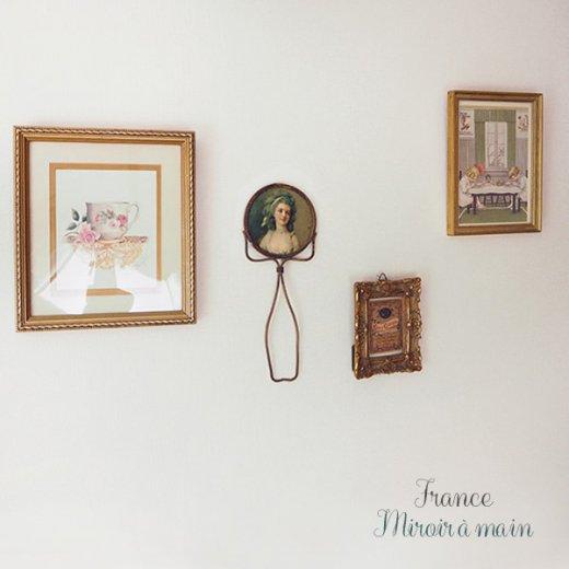 【送料無料】フランス アンティーク ビクトリアン 手鏡(貴婦人の肖像) 【画像7】