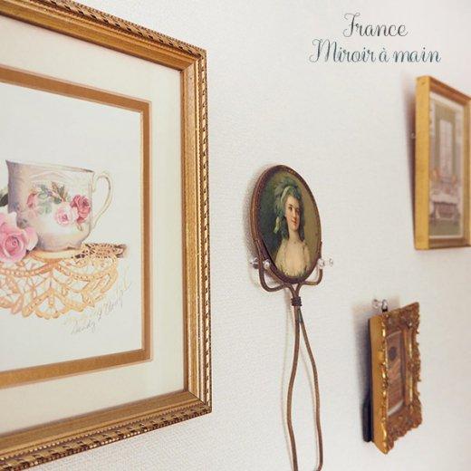 【送料無料】フランス アンティーク ビクトリアン 手鏡(貴婦人の肖像) 【画像8】