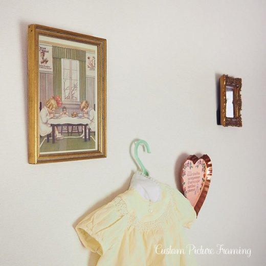 アメリカ アンティーク 壁用フレーム画 祈りを捧げる幼子【Cream of Wheat】【画像6】
