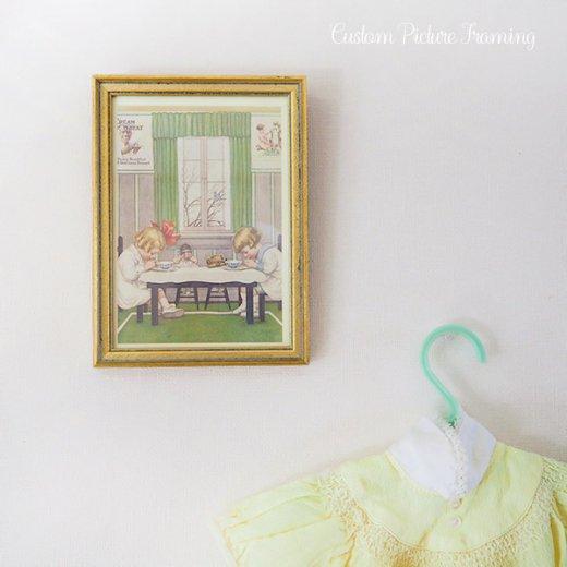 アメリカ アンティーク 壁用フレーム画 祈りを捧げる幼子【Cream of Wheat】【画像7】
