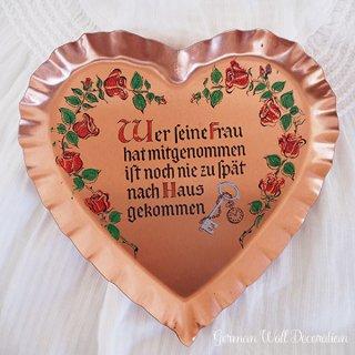 ガーリー & 乙女 アンティーク ヴィンテージ ドイツ アンティーク ローズハートの壁装飾