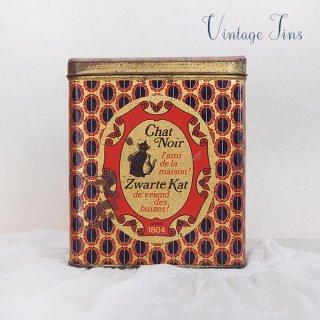 オランダ 雑貨 オランダ アンティーク TIN缶 【Chat Noir Zwarte kat】