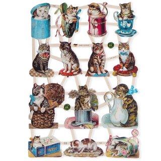 森ガール 雑貨 ドイツ クロモス【M】(入れ物とネコ 【ラメ有り】)