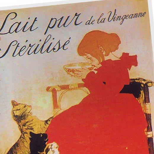フランスポストカード (Lait pur de la Vingeanne Sterlise)【画像2】