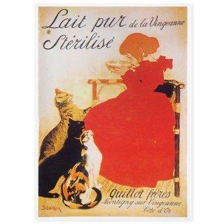 フランスポストカード (Lait pur de la Vingeanne Sterlise)